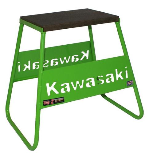 New Tag Z Steel Box Bike Stand Green Kawasaki Logo