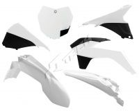 New Plastic Kit KTM SX SXF 125/250/350/450 2013 Racetech Plastics WHITE/BLACK